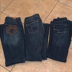 3 pairs of size 2 jeans
